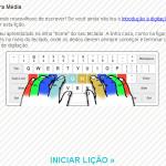 Curso gratuito de digitação no site typingweb