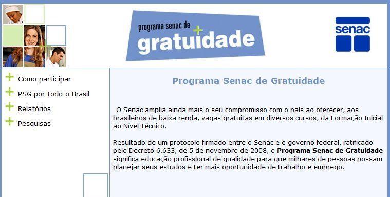 cursos online gratis com certificado no Senac