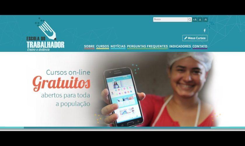 Escola do Trabalhador está oferecendo cursos gratuitos online